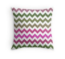 Pink Roses in Anzures 2 Chevron 1T Throw Pillow