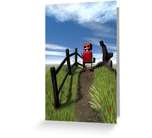 Little Red Robot Greeting Card