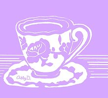 Lavender Teacup Art by AbigailDavidson