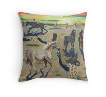 Nutz Bout Horses Throw Pillow