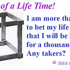The Bet of a Lifetime - any takers? by Gary Timothy