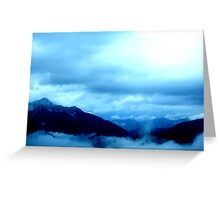 austrian mountains Greeting Card