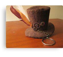 Steampunk hat Canvas Print
