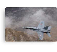 FA18 Hornet – Swiss Air Force Canvas Print