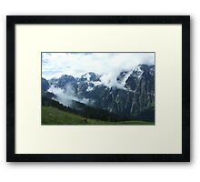 austrian mountains 8 Framed Print