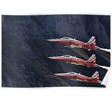 Northrop F-5E Tiger II; Patrouille Suisse Poster