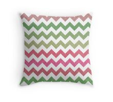 Pink Roses in Anzures 2 Chevron 2T Throw Pillow