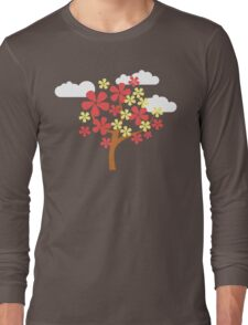 Tree and Clouds Long Sleeve T-Shirt