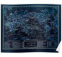 Atlas zu Alex V Humbolt's Cosmos 1851 0181 Oceanic Discoveries Inverted Poster