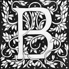 """Art Nouveau """"B"""" (William Morris Inspired) by Donna Huntriss"""