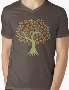 Butterfly Tree Mens V-Neck T-Shirt