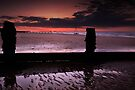 Sea Defences, Sun Rising by Andy Freer