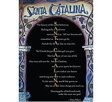 Santa Catalina - with Alma Mater Photographic Print