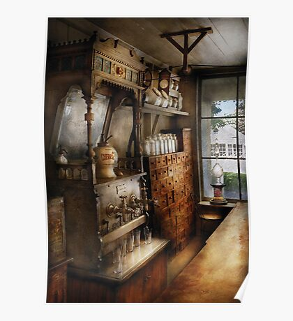 Americana - Turn of the century soda fountain Poster