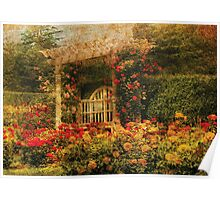 Bench - The Rose Garden Poster