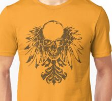 Skull with Feathers Unisex T-Shirt