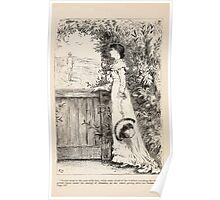 Heartsease or The Brother's Wife by Charlotte Mary Yonge art Kate Greenaway 1882 0146 Violet Went to the Gate Poster