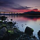 Sunset over Hobart by Anton Gorlin