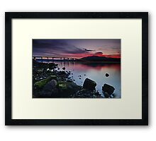 Sunset over Hobart Framed Print