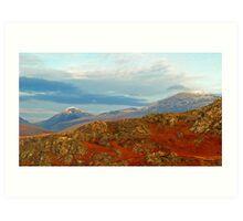 Lake District Mountains Art Print