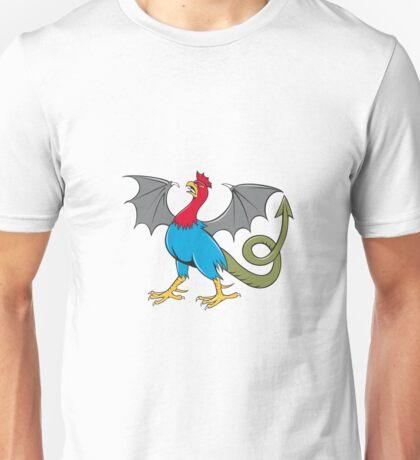 Basilisk Bat Wing Crowing Cartoon Unisex T-Shirt