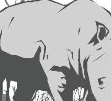 Shy Rhino Sticker