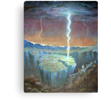 electric earthquakes Canvas Print