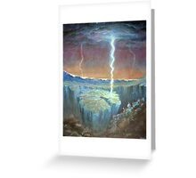 electric earthquakes Greeting Card