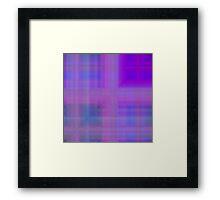 Blue-Violet Plaid Framed Print