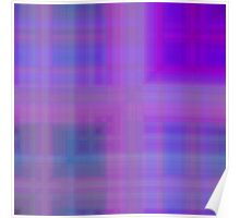 Blue-Violet Plaid Poster
