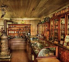 Pharmacy - Turn of the Century Pharmacy by Mike  Savad