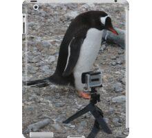 Gentoo Penguin in Antarctica & Go Pro  - 2 iPad Case/Skin