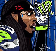 Richard Sherman (Japanese Manga Style) Shocked Expression by Jmaldonado781