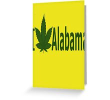 0181 I Love Alabama Greeting Card