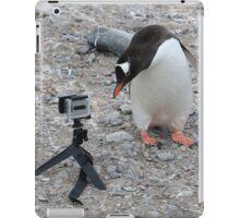 Gentoo Penguin in Antarctica & Go Pro - 3 iPad Case/Skin