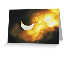 PARTIAL SOLAR ECLIPSE III Greeting Card