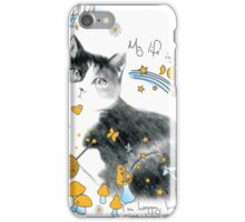 cat design t-shirt iPhone Case/Skin