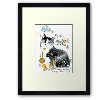 cat design t-shirt Framed Print