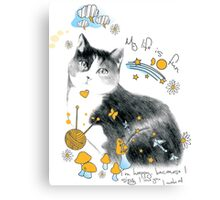 cat design t-shirt Canvas Print