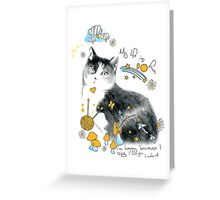 cat design t-shirt Greeting Card