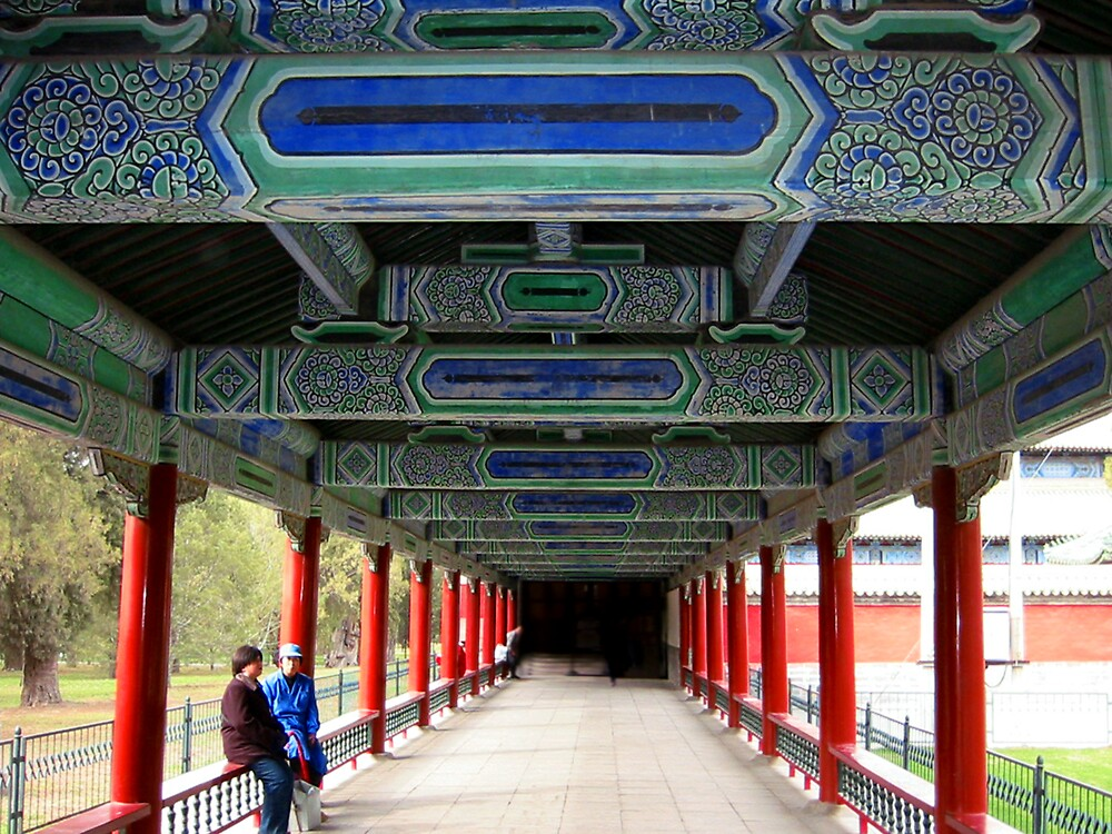 Covered Walkway by L J Fraser
