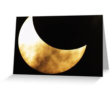 PARTIAL SOLAR ECLIPSE IV Greeting Card