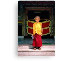 future buddha. northern india Canvas Print
