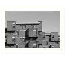 geometric architecture with blocks  Art Print