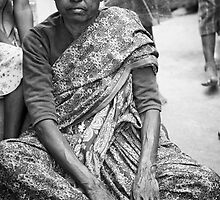 The grandmother, Slums, Banagalore, India by connieelaine