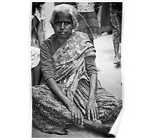 The grandmother, Slums, Banagalore, India Poster