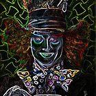 Neon Mad Hatter. by Gary Goza II