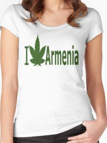 0189 I Love Armenia  Women's Fitted Scoop T-Shirt