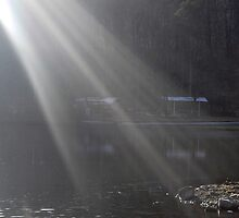 Looking Thru the Rays -  Marquette Lake, Grantville, PA by Corkle