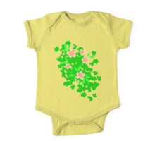 Cherry Blossom - Forest Green One Piece - Short Sleeve